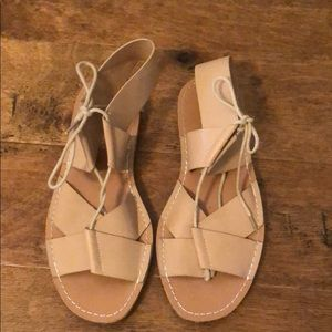 Dirty Laundry Shoes - Leather Lace Up Sandals